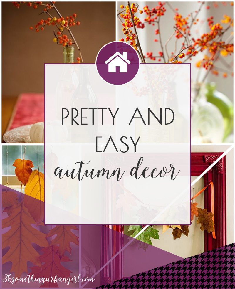 Pretty and easy autumn home decoration ideas