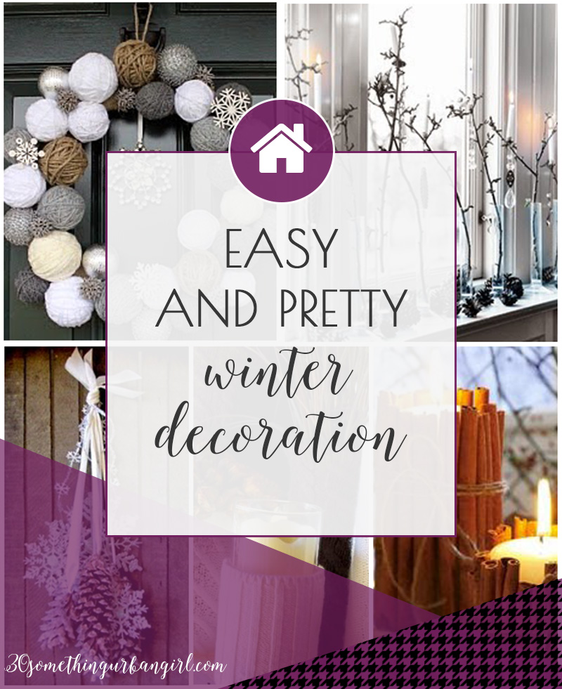 Easy and pretty winter home decoration ideas
