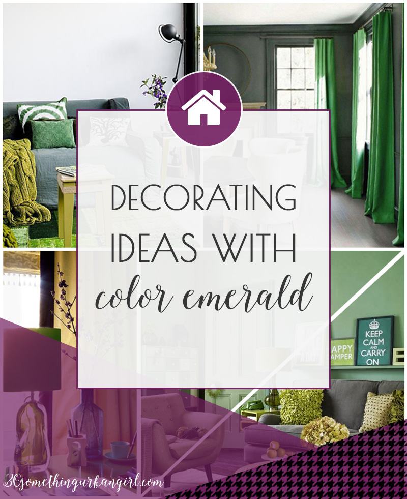 Pretty Home Decor Ideas With The Color Emerald