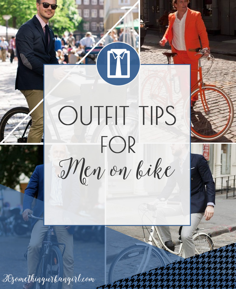 Colorful outfit tips for men on bike
