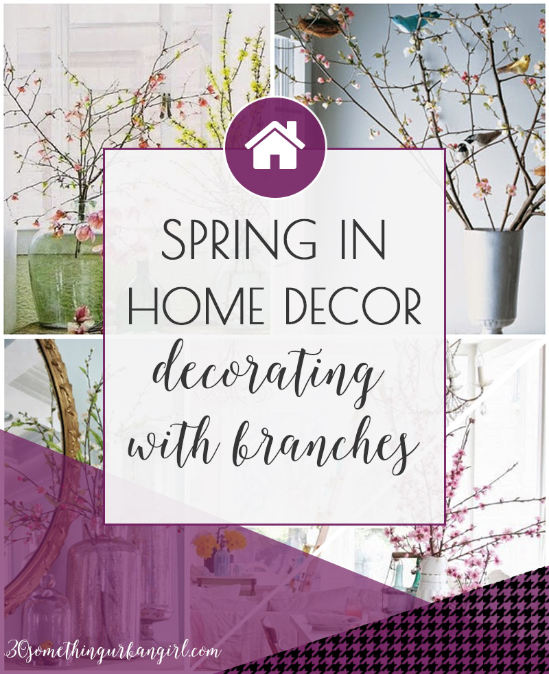 Spring home decoration ideas with flower branches
