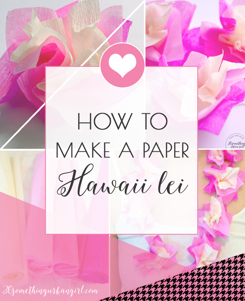 DIY project: How to make a paper Hawaii lei, necklace