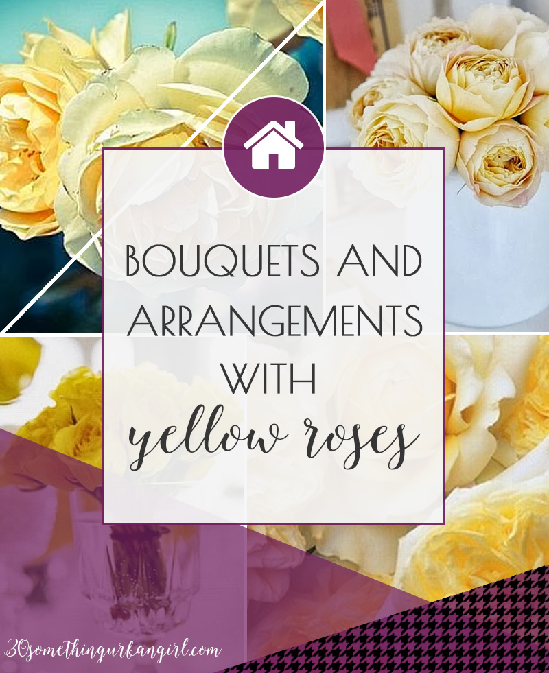 Bouquets and arrangements with yellow roses for home decor and events