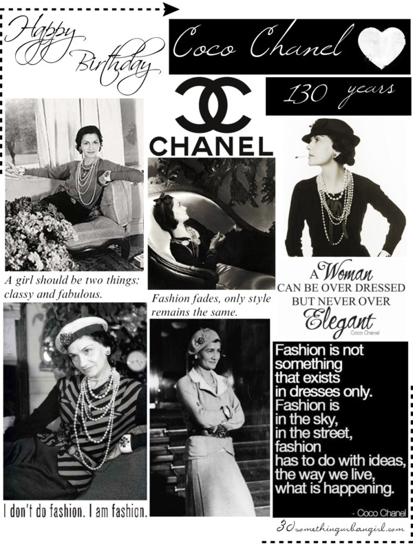 Happy Birthday Coco Chanel 30 Something Urban Girl