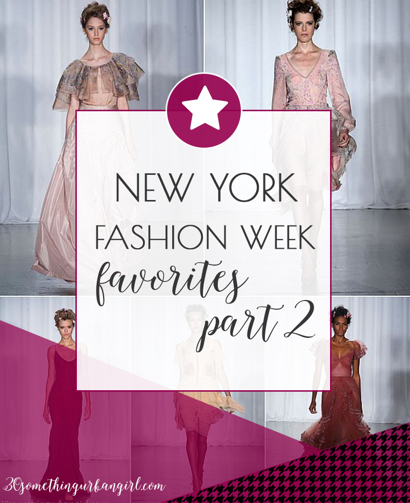 New York Fashion Week 2013 S/S favorites about day 3 and 4