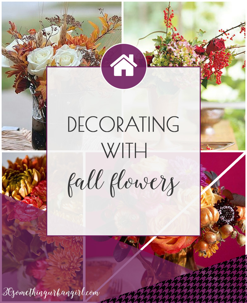 Lovely decorating ideas with fall flowers