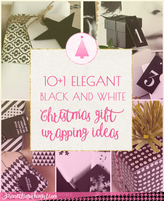 11 elegant black and white Christmas gift wrapping ideas
