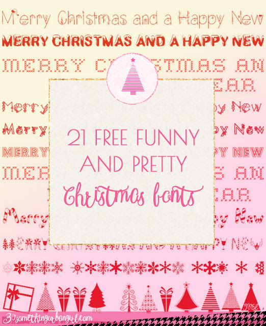 21 free pretty and funny christmas fonts - Christmas Fonts Free