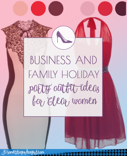 Business and family holiday party outfit ideas for Clear Spring and Clear Winter women