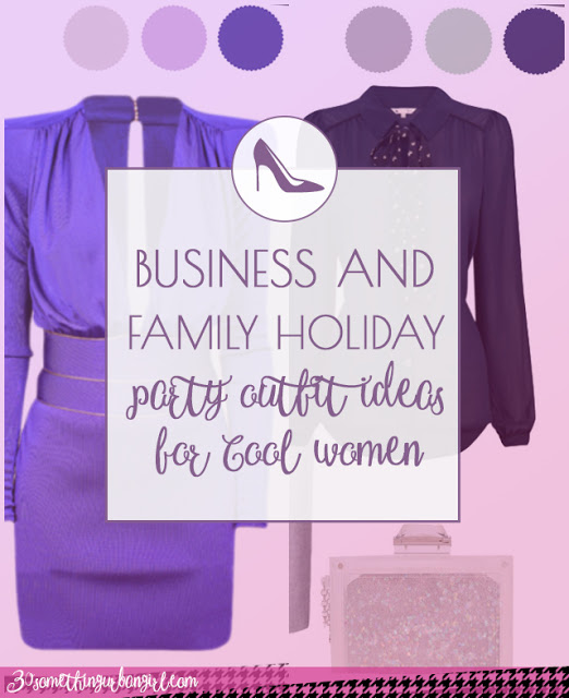 Business and family holiday party outfit ideas for Cool Summer and Cool Winter women