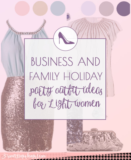 Business and family holiday party outfit ideas for Light Spring and Light Summer women