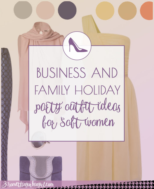Business and family holiday party outfit ideas for Soft Summer and Soft Autumn women