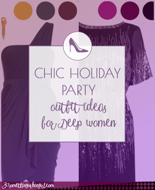 Chic holiday party outfit ideas for Deep Autumn and Deep Winter women