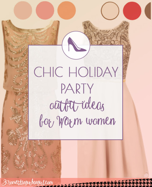 Chic holiday party outfit ideas for Warm Spring and Warm Autumn women