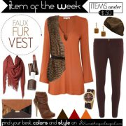 Item of the Week: Faux Fur Vest for Deep Autumns