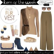 Item of the Week: Faux Fur Vest for Soft Autumns