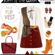 Item of the Week: Faux Fur Vest for Warm Autumns