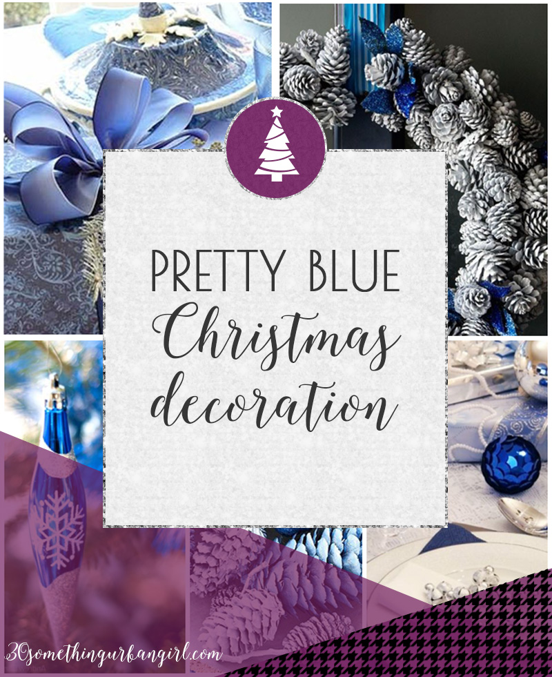 Pretty blue Christmas home decoration ideas