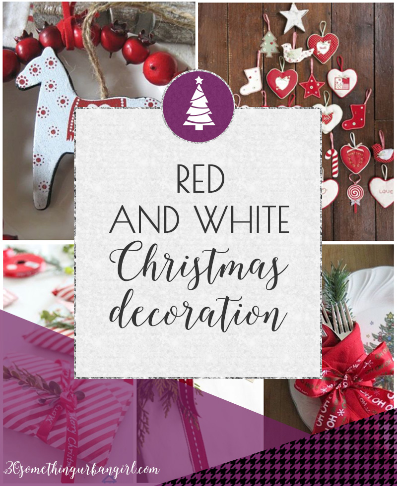 Classic red and white Christmas home decoration ideas