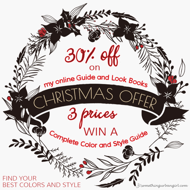Christmas offer - discount for online seasonal color analysis Guides