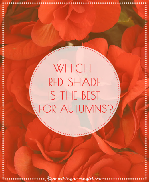 The best red shades with outfit tips for Autumn seasonal color women