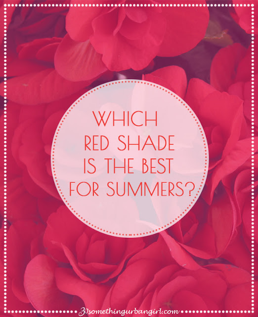 The best red shades with outfit tips for Summer seasonal color women