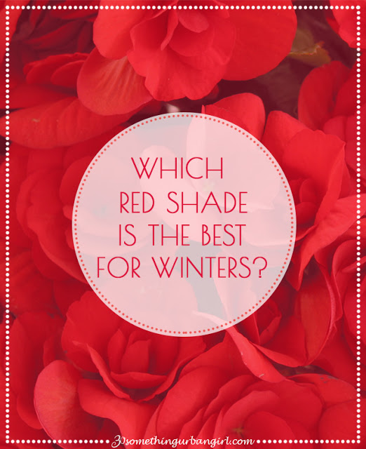 The best red shades with outfit tips for Winter seasonal color women