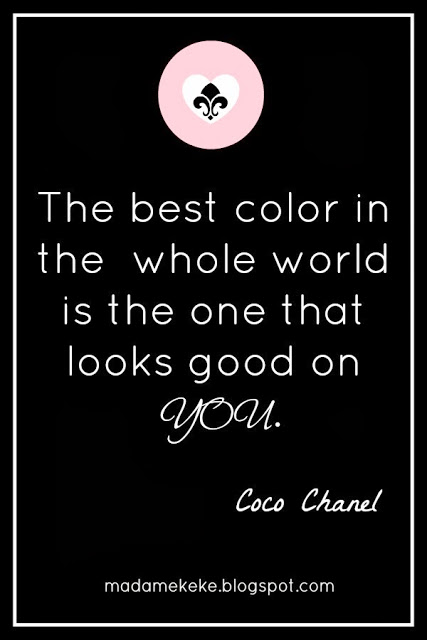 Coco Chanel quote, best colors