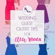 Wedding guest outfit tips for Clear Spring and Clear Winter women