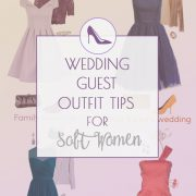 Wedding guest outfit ideas for Soft Summer and Soft Autumn women