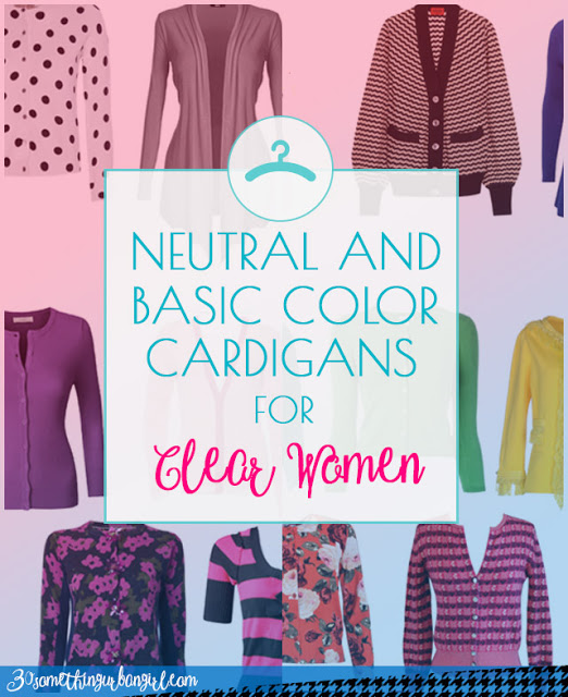 Neutral and basic color cardigans for Clear Spring and Clear Winter women