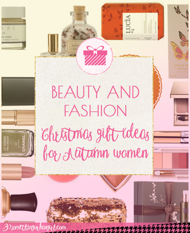 Beauty and fashion gift ideas for Christmas for Autumn seasonal color women