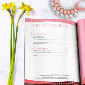 Basic Color and Style Guide shop promo photo with table of contents