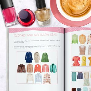 Basic Color and Style Guide shop promo photo with mini style guide inside