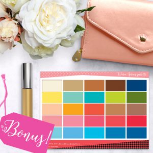 Basic Color and Style Guide shop promo photo with bonus color palette