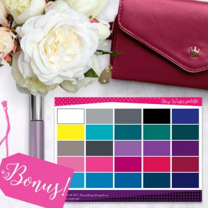 Bright Color and Style Guide shop promo photo with color palette bonus