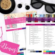 Bright Color and Style Guide shop promo photo with bonus checklists