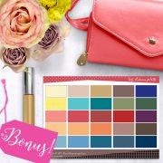 Bright Capsule Wardrobe Lookbook promo photo with bonus color palette