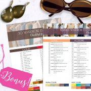 Bright Bright Capsule Wardrobe Lookbook shop promo photo with bonus checklists