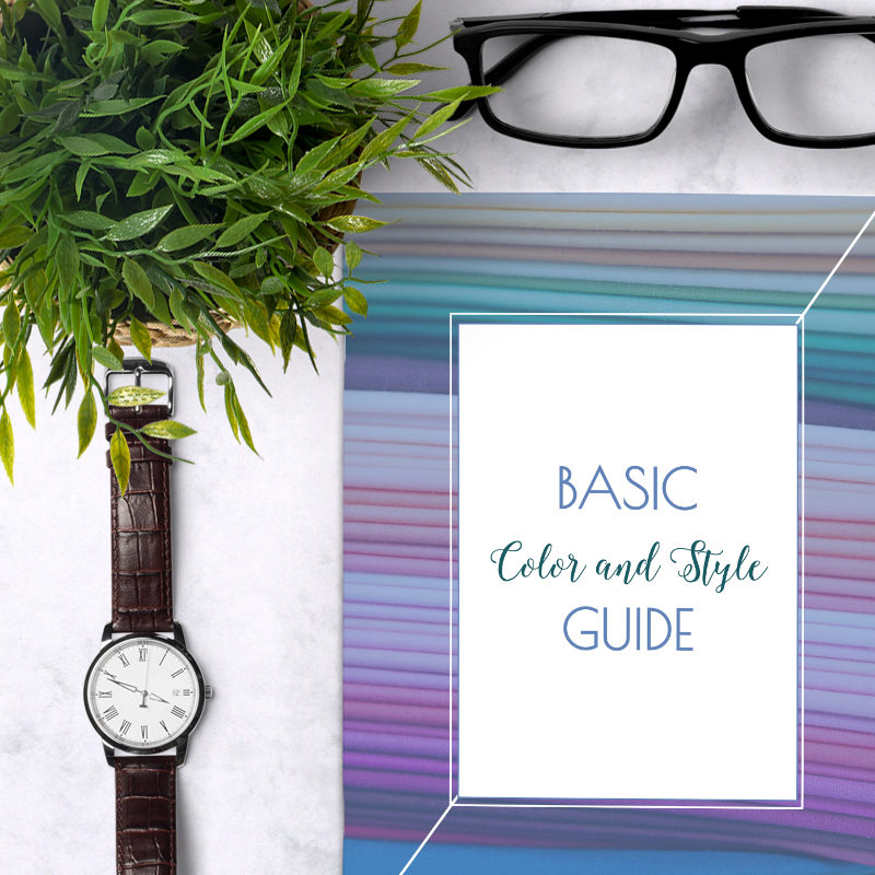 Basic Color and Style Guide for Men shop promo photo