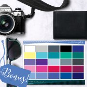 Basic Color and Style Guide for Men shop promo photo with bonus color palette
