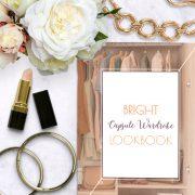 Bright Capsule Wardrobe Lookbook shop promo photo