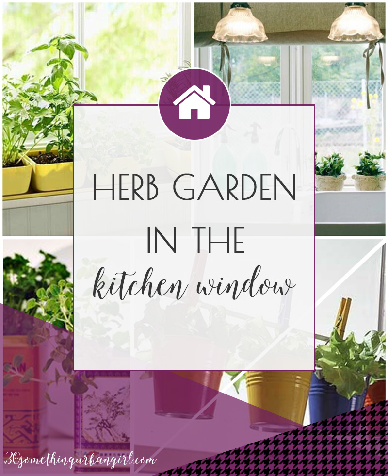 How to style a lovely herb garden in the kitchen window