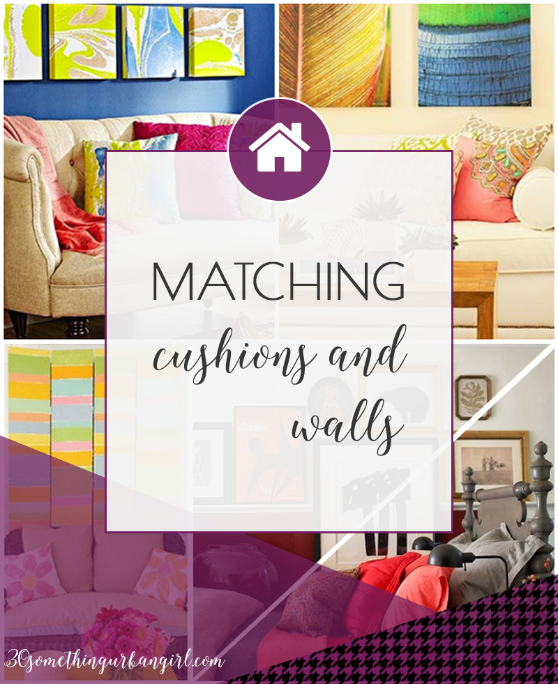 Stylish home decor ideas with matching cushions and wall decoration