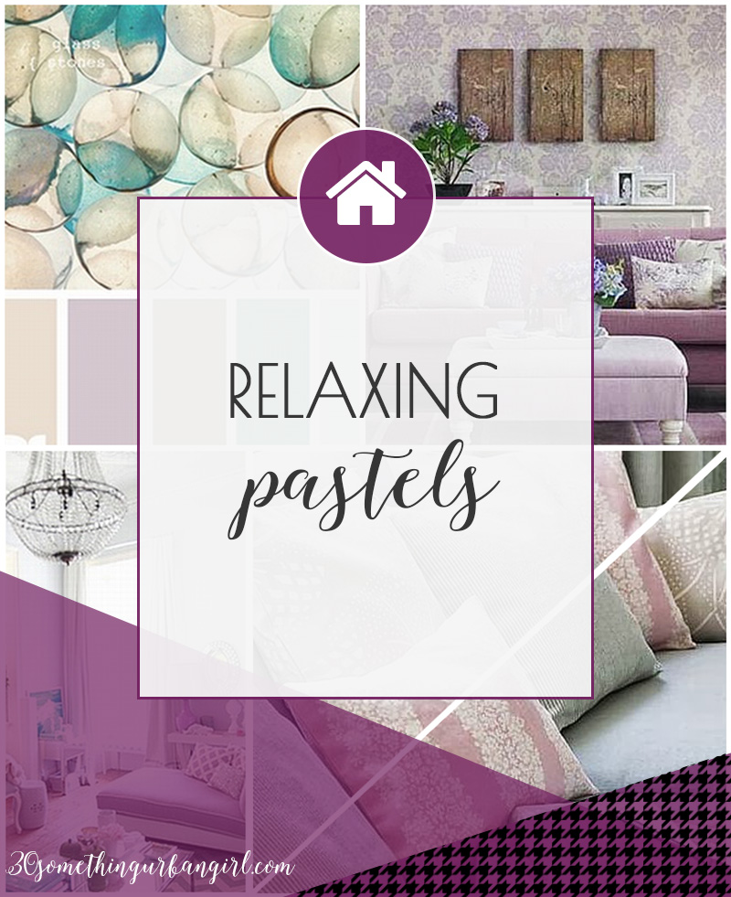 Pretty home decor ideas with relaxing pastel colors