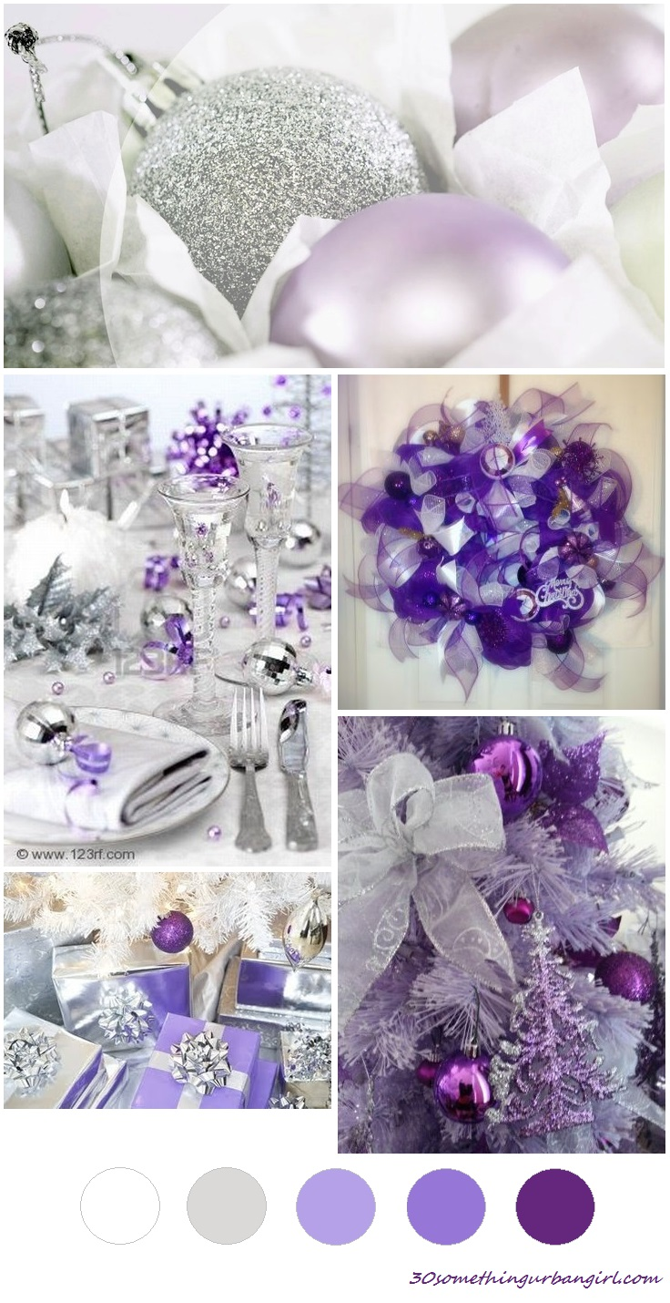 Christmas Picture Color Schemes.Soft Sunday Christmas Color Palette Lilac Purple And