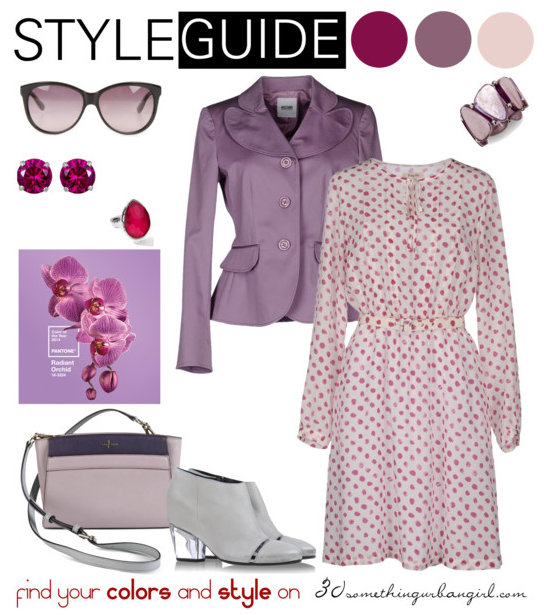 c594e4d025 Charming outfit ideas with Radiant Orchid for Soft Summer and Soft ...