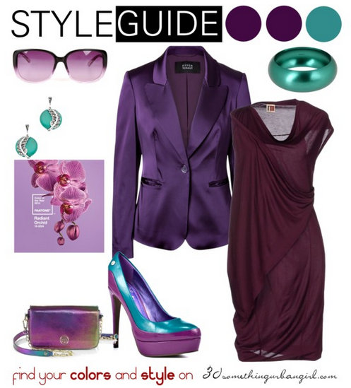 cb82749ac1 Fashionable outfit ideas with Radiant Orchid for Deep Winter and ...
