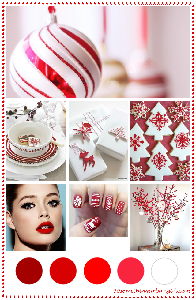 Christmas Picture Color Schemes.Soft Sunday Classic Red And White Christmas Color Palette